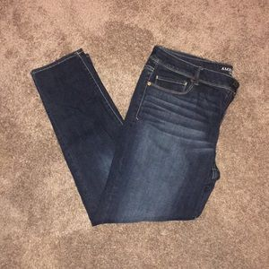 American Eagle dark wash super skinny
